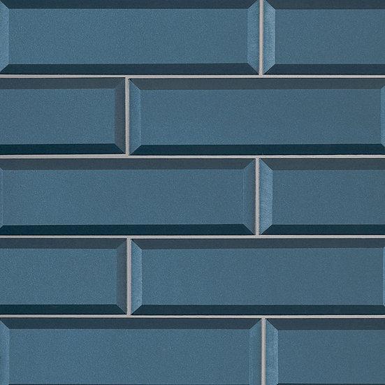 Tahiti Blue 2.5x8x8mm Beveled