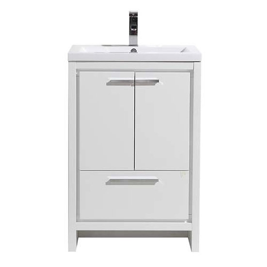 DOLCE 24″ BATH VANITY WITH SINGLE REINFORCED ACRYLIC SINK