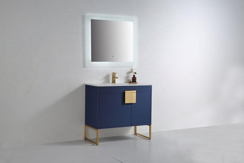 """Mars Royal Blue 36"""" Vanity"""