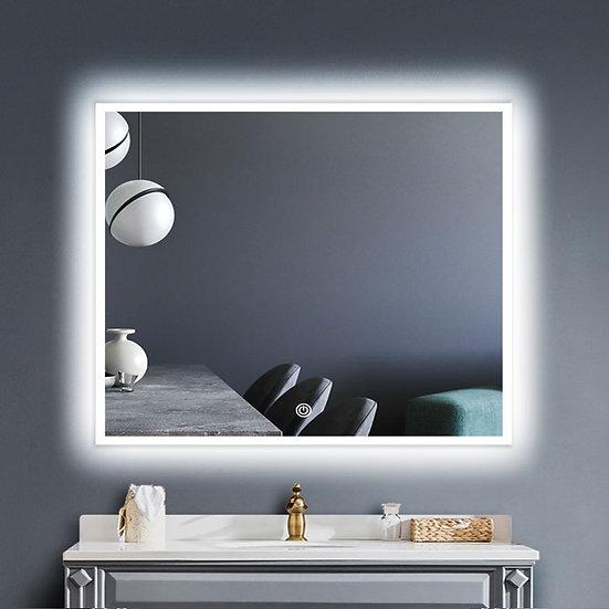 LED Illuminated Bathroom / Vanity Wall Mirror w Defogger LAM-049D