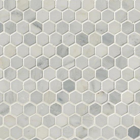 Arabescato Carrara Hexagon Honed