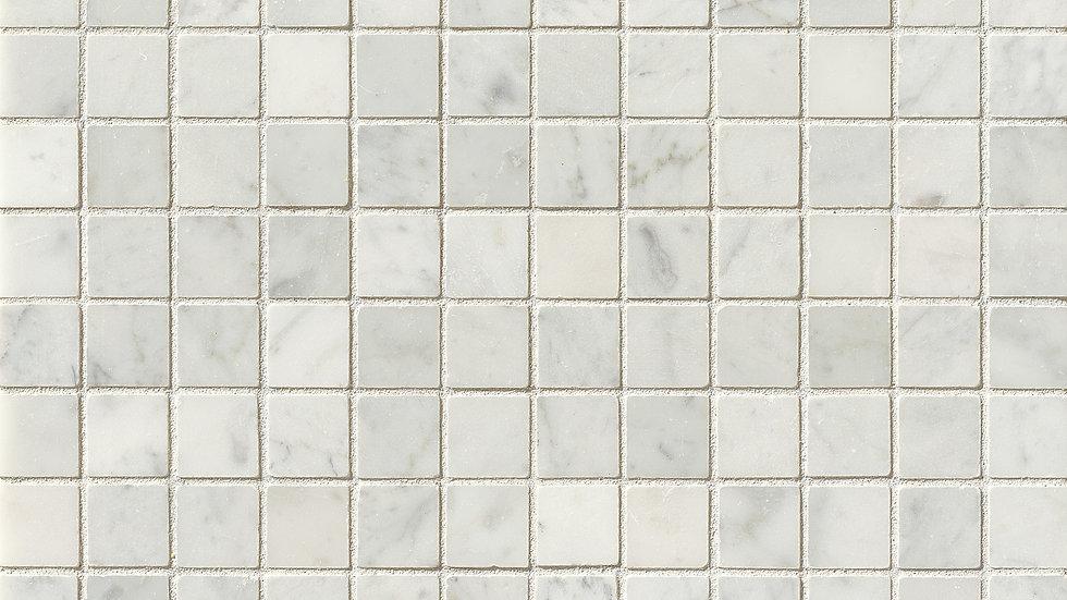 """White Carrara 1"""" x 1"""" Floor & Wall Mosaic"""