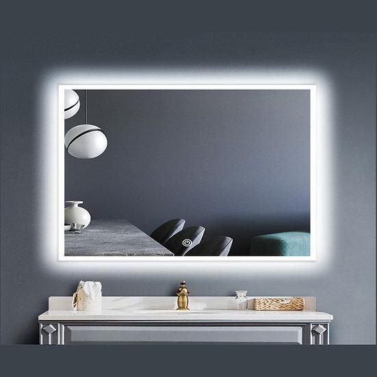 LED Illuminated Bathroom / Vanity Wall Mirror w Defogger LAM-049E