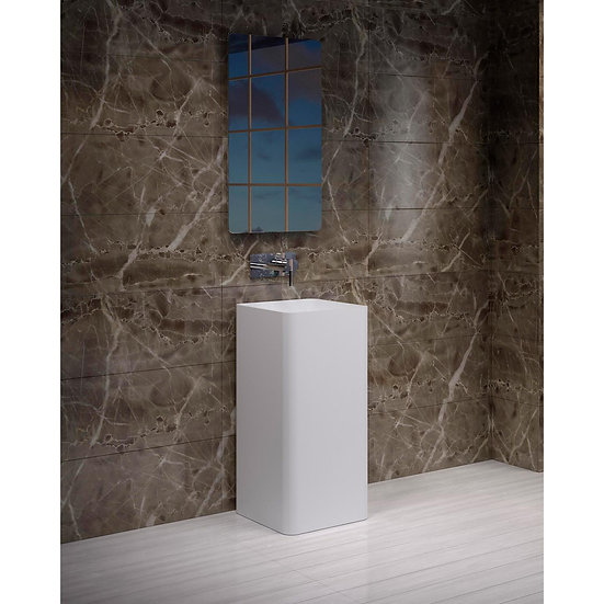 Andes Free Standing Solid Surface Resin Stone Sink TB-FS400-A