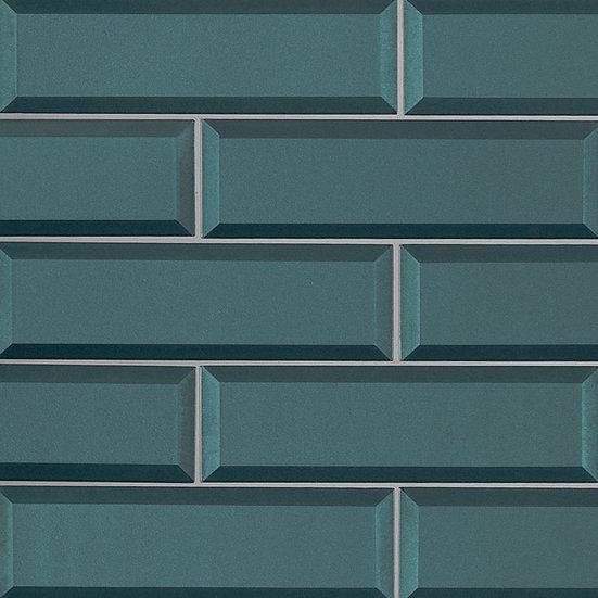 Verde Azul 2.5x8x8mm Beveled