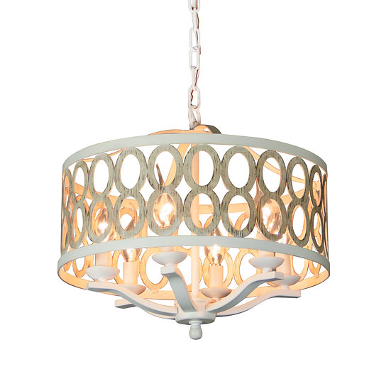 Canyon Home 6 Light Drum Chandelier