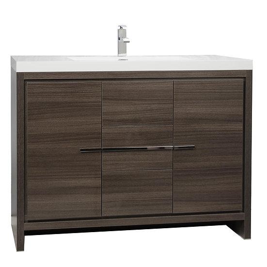 CBI Enna 47 Inch Grey Oak Modern Bathroom Vanity TN-LA1200-GO