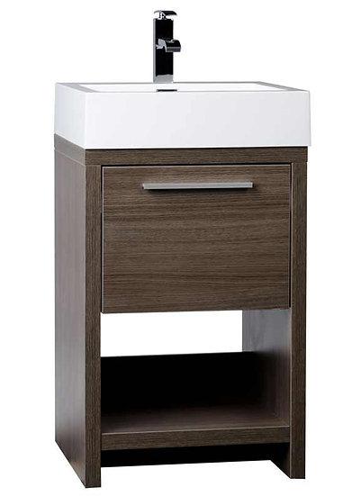 "20"" Bathroom Vanity Set Grey Oak TN-L500-GO"