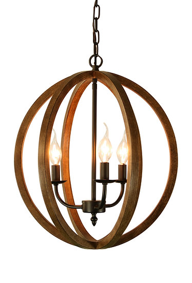 Canyon HomeRustic Globe Chandelier Light