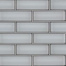 Glass Tile Ice Bevel Subway 2x6x8mm