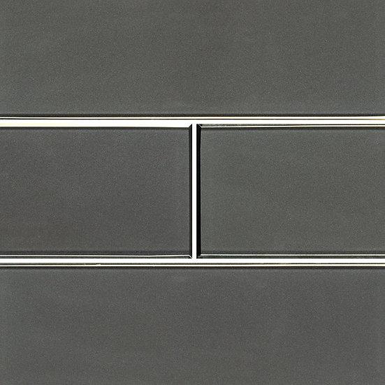 Glass Tile Metallic Gray Bevel 4x12
