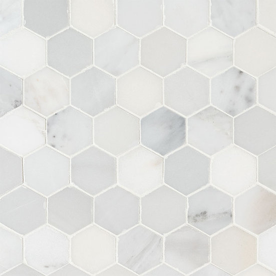 "Arabescato Carrara 2"" Hexagon Honed"