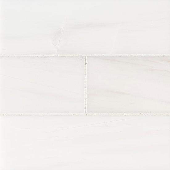 Bianco Dolomite Subway Tile 4x12 Polished