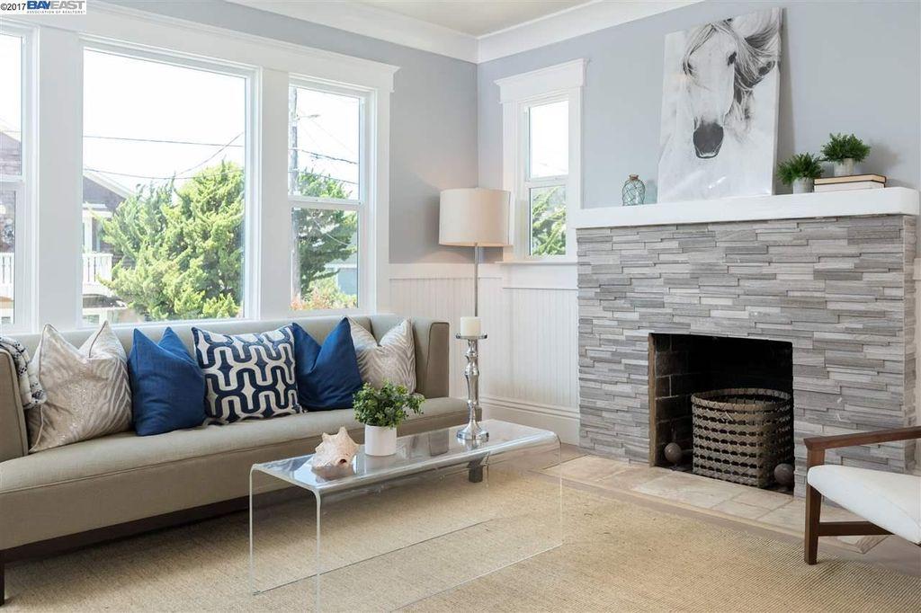 Grey Ledger Fireplace