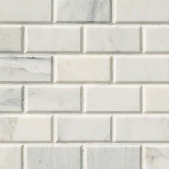 Arabescato Carrara Subway Tile 2x4