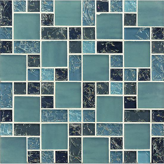 Crackle Mosaic Blue