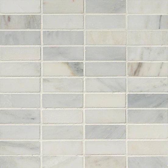 Arabescato Carrara 1x3 Honed In 12x12 Mesh
