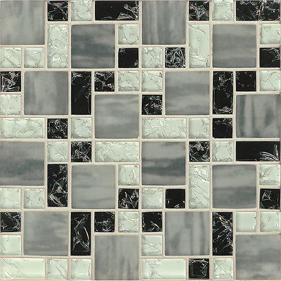 Crackle Mosaic Black