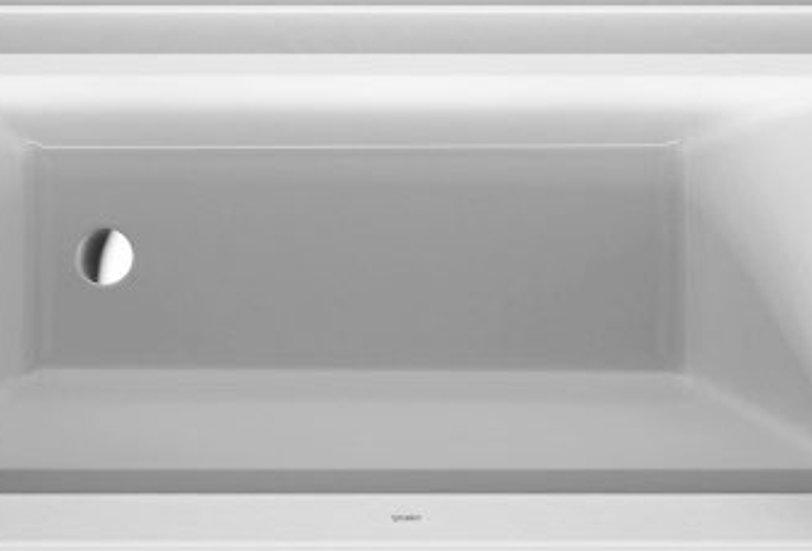 "Duravit Architec Bathtub with panel height 19 1/4"""