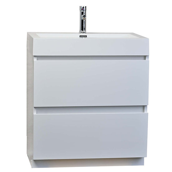 "29.5"" Contemporary Bathroom Vanity in High Gloss White TN-LY750-HGW"