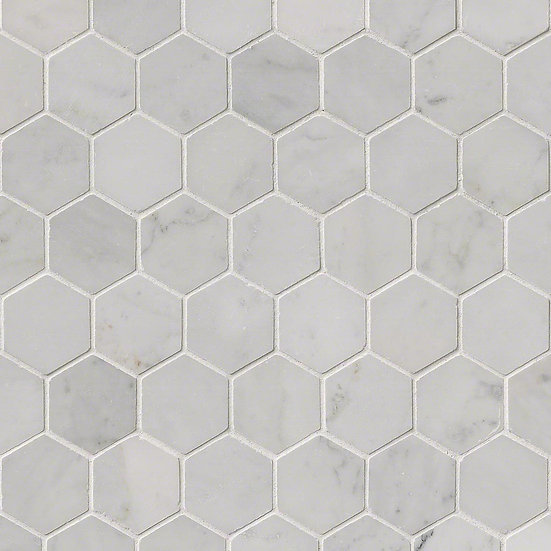 Carrara White Hexagon Polished