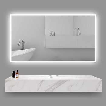 "59""W x 35.5""H LED Illuminated Bathroom / Vanity Wall Mirror w Defogger LAM-049F"