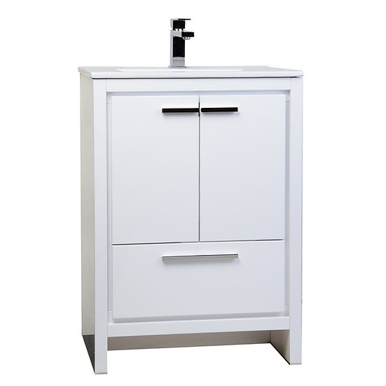CBI Enna 23.5-inch White Modern Bathroom Vanity TN-LA600-HGW