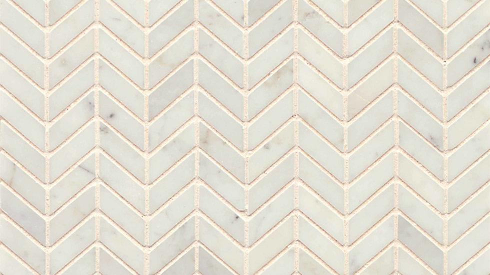 White Carrara Floor & Wall Mosaic