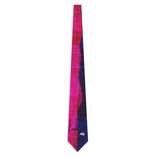 Pink Haze Script Necktie