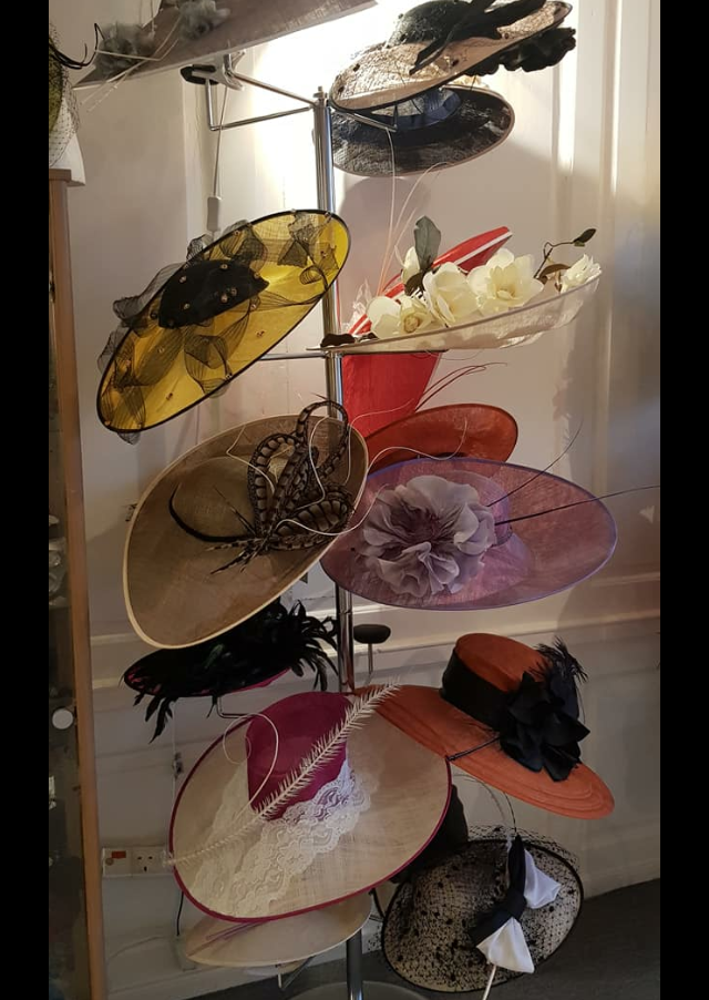 One of many beautiful hats on display