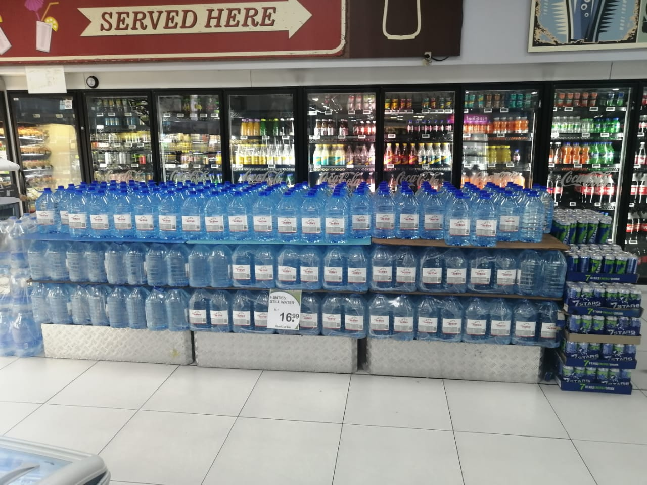 5L Bulk Water in Stores