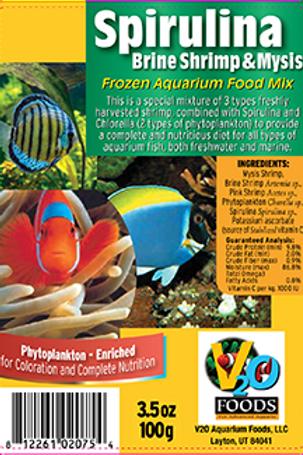 WS Spirulina Brine Shrimp & Mysis Mix 100gr