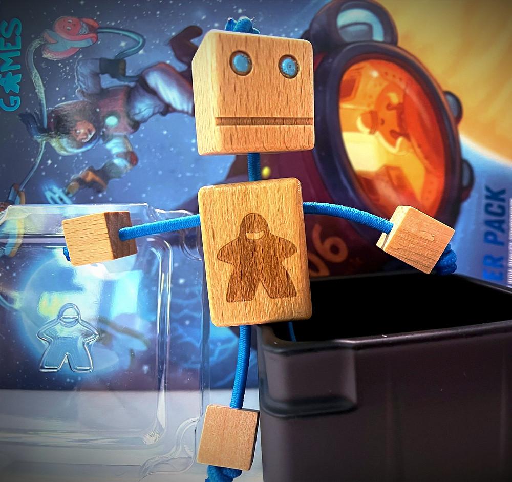 Wood Block Meeple Robot