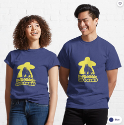 Yellow Cat Meeple - Classic T-Shirt