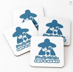 Blue Cat Meeple - Coaster Set