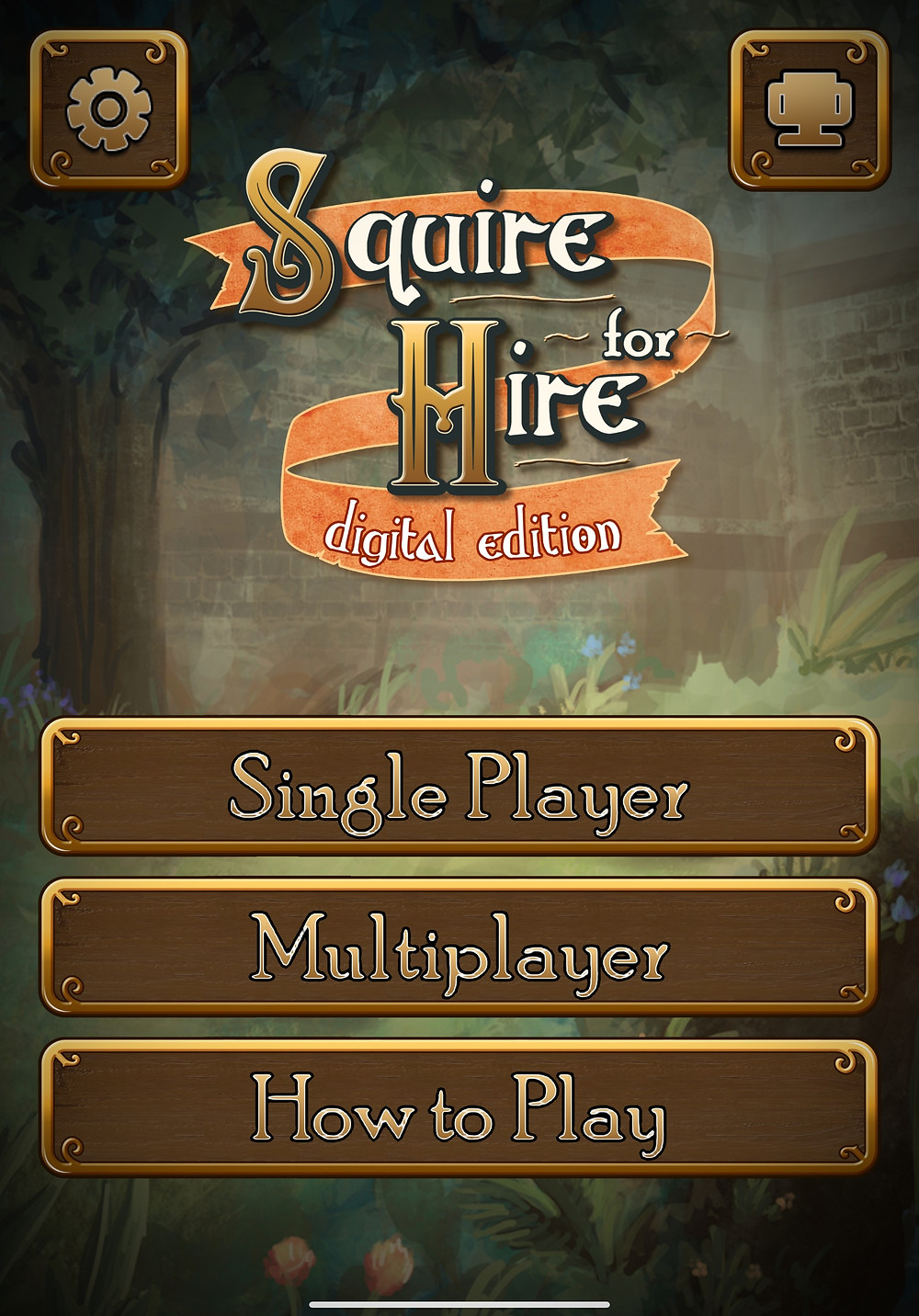 Squire for Hire Digital Edition Opening Screen