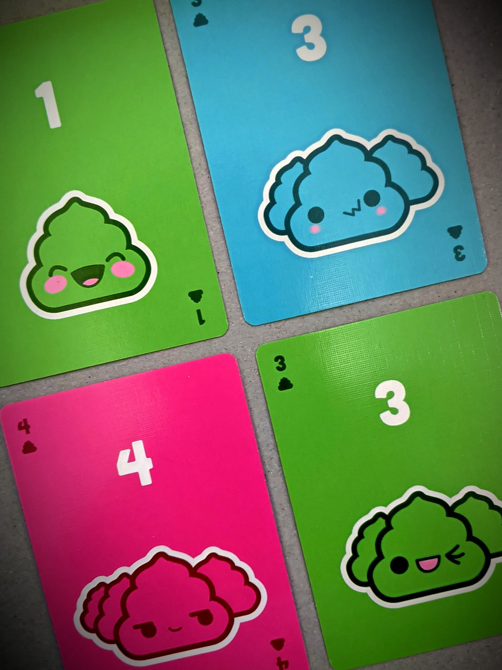 Poop: The Game Kawaii cards