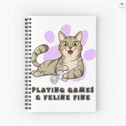 Feline Fine Pudgy Cat - Spiral Notebook