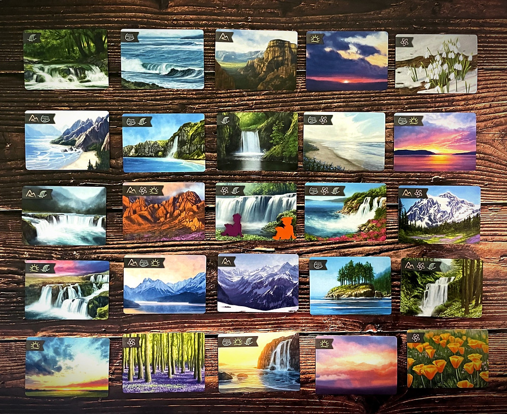 Sunset Over Water Cards