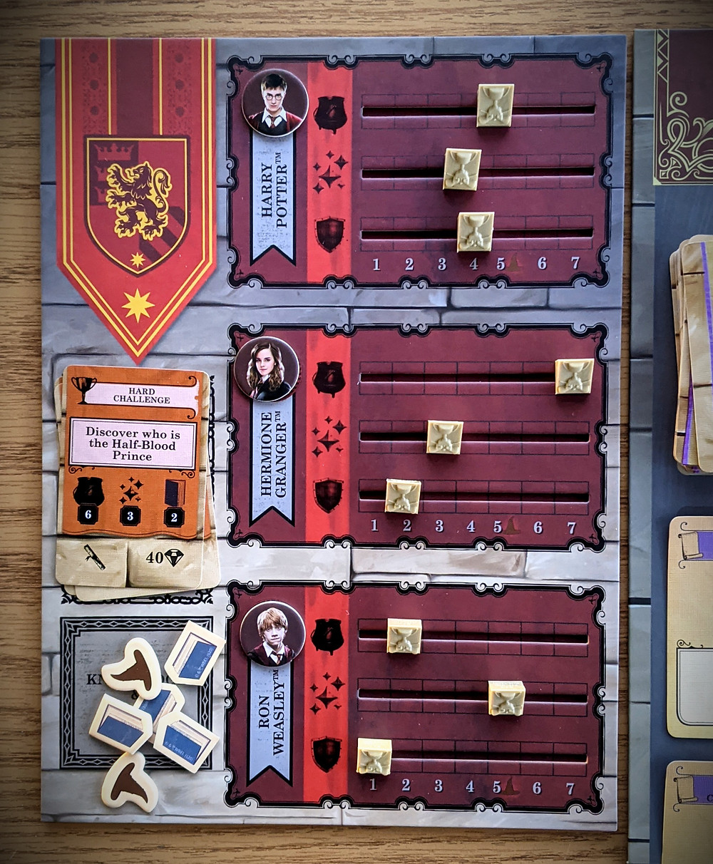 Harry Potter House Cup Championship Gryffindor Player Board