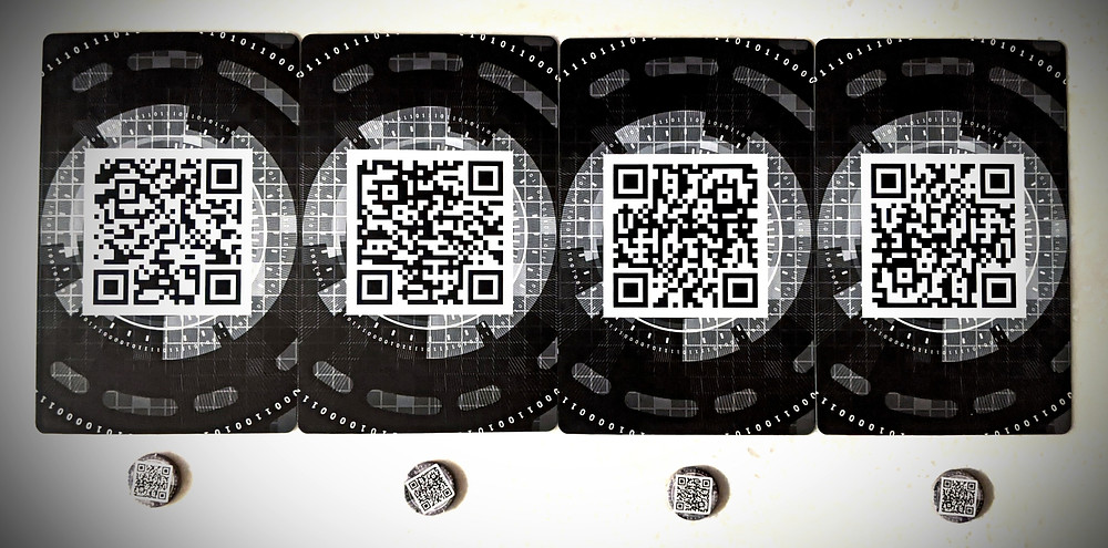 Techlandia QR Code Cards and Tokens