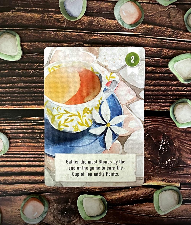Floriferous cup of tea card