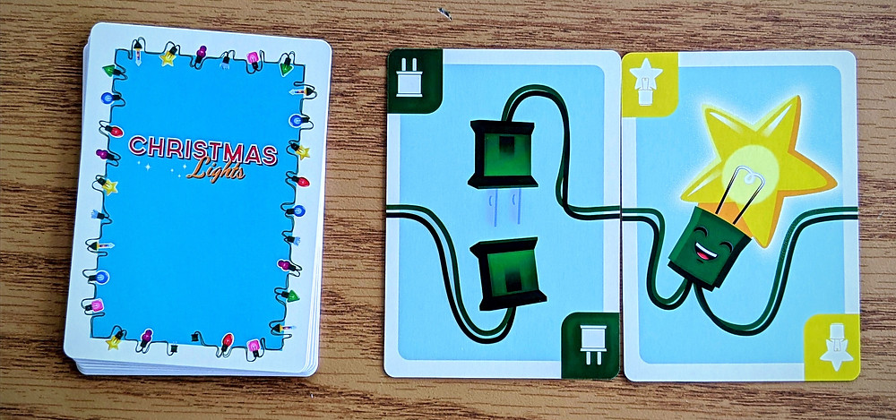 Christmas Lights A Card Game Bulb and Plug Card