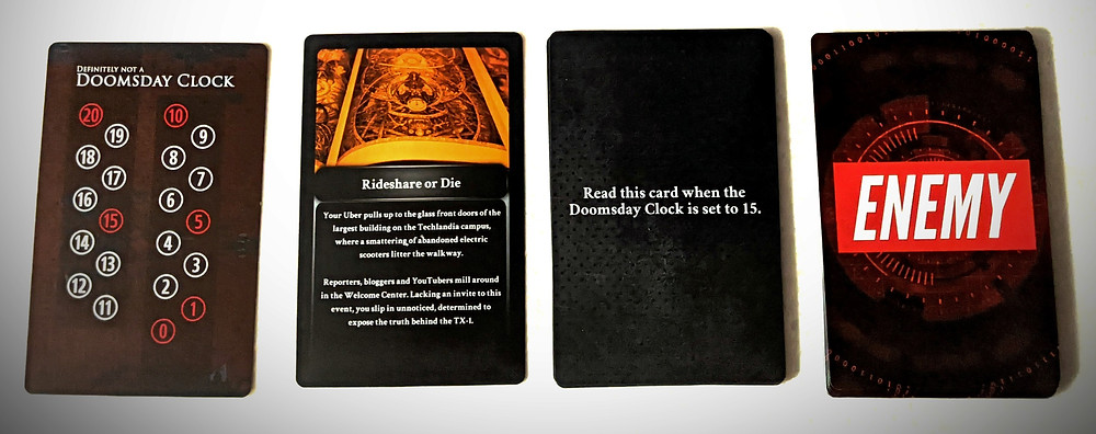 Techlandia Doomsday Clock, Lore Cards and Enemy Cards
