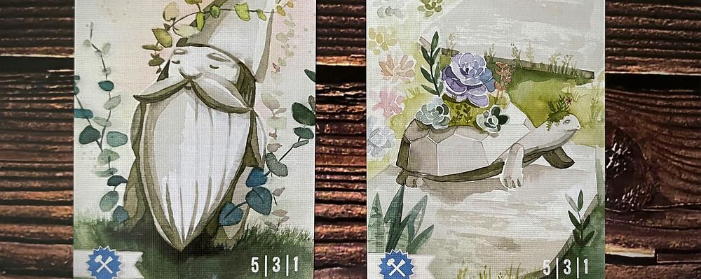 Floriferous statue cards