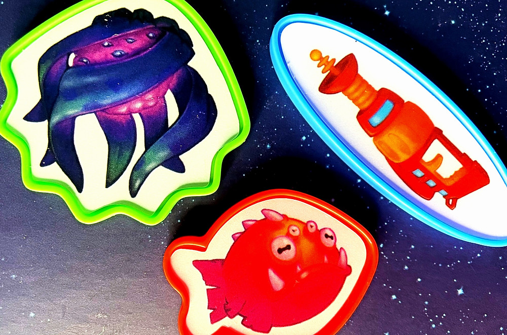 Plastic Custom Shapes with Stickers