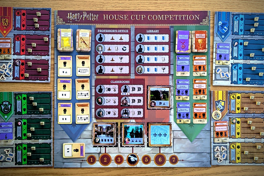 Harry Potter House Cup Championship Board and Components