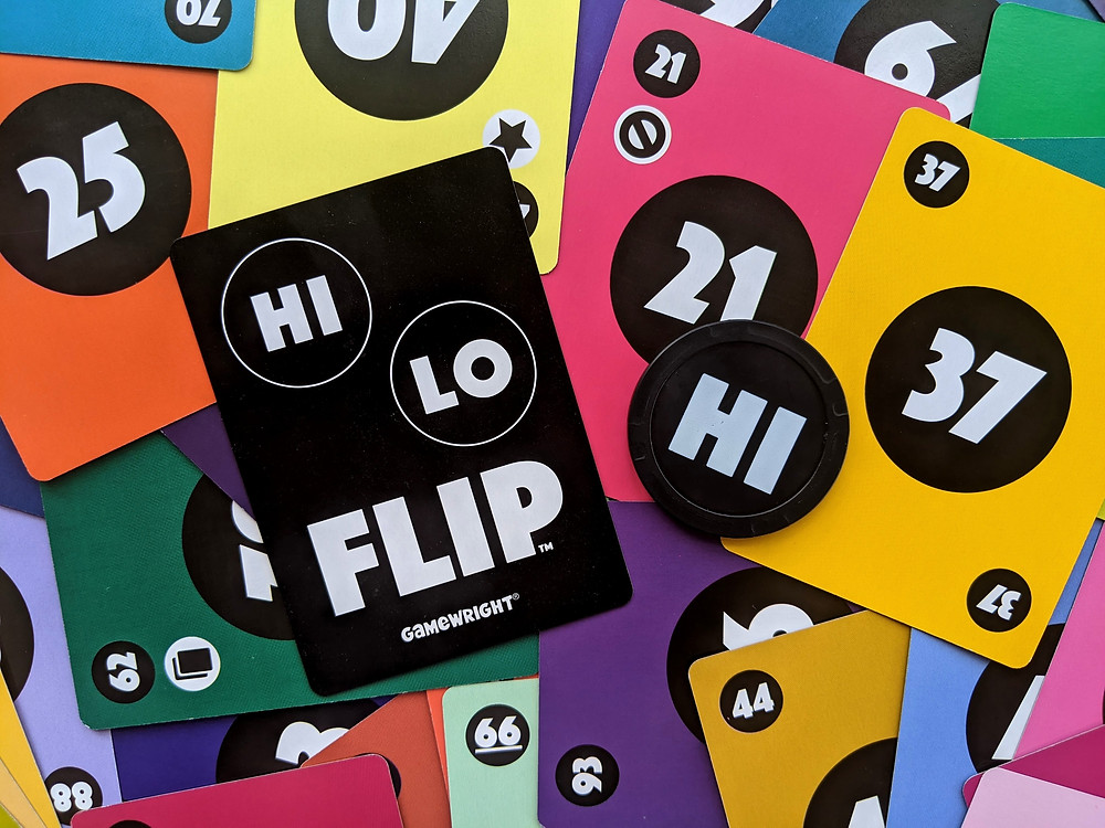 Hi Lo Flip Cards and Chip