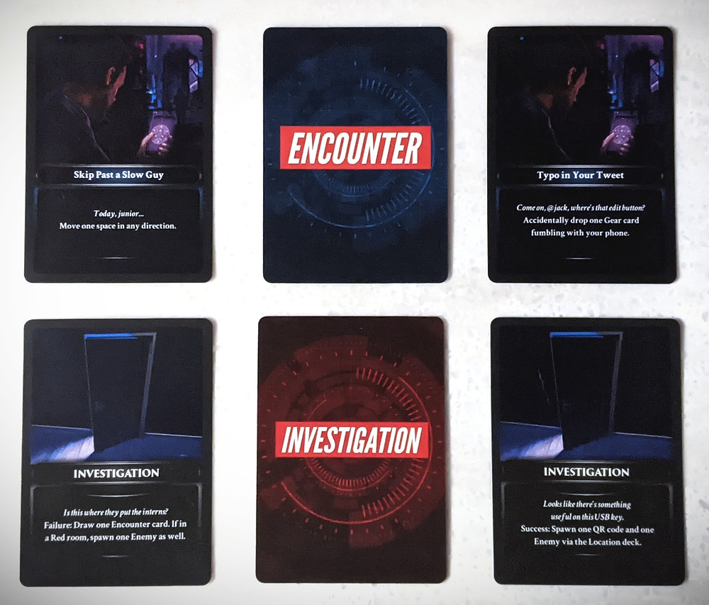 Techlandia Encounter and Investigation Cards