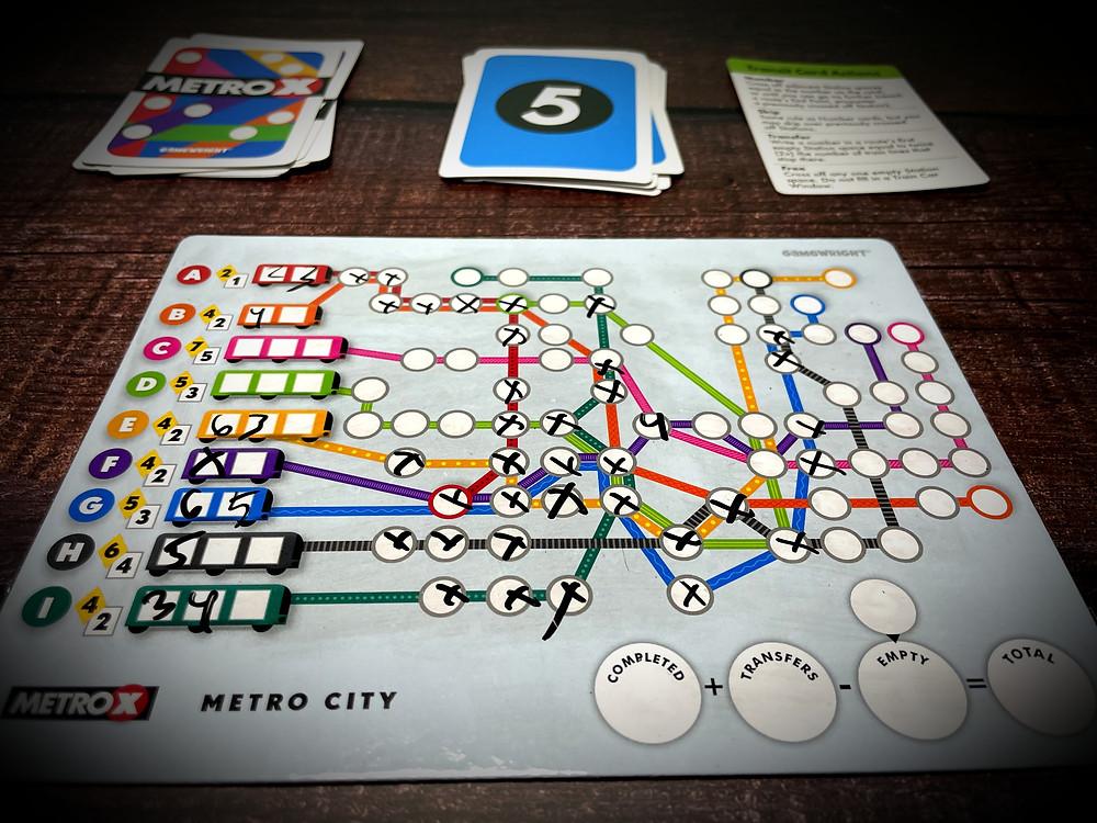 Metro X game components